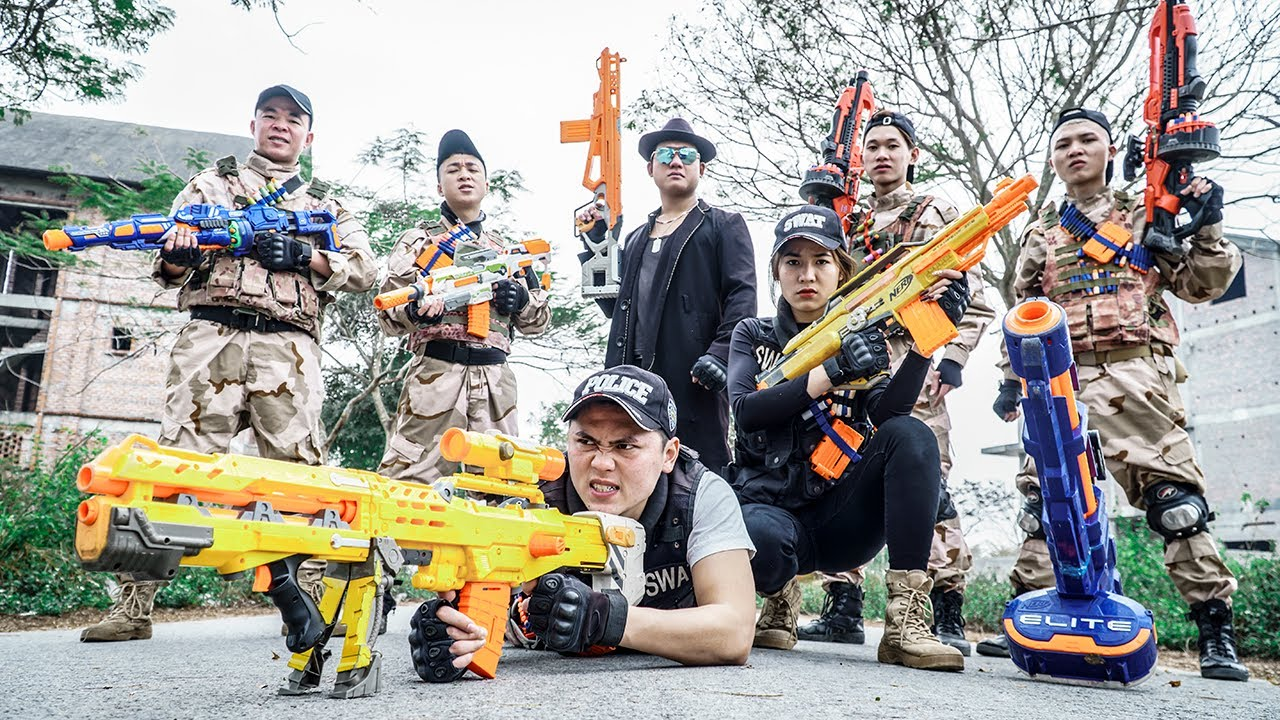 LTT Nerf War : Elite Police SEAL X Warriors Nerf Guns Fight Is Being Wanted Dr Ken Crazy