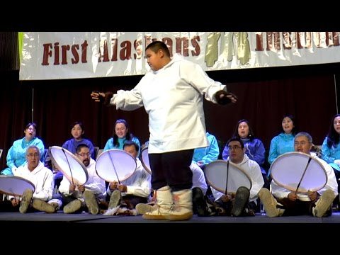 Alaska Native dance depicting a seal hunt