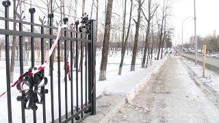 Реконструкцию ограждения в парке Гагарина завершат к Новому году