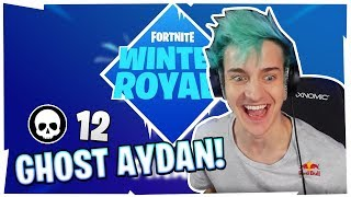 NINJA SPECTATES *GHOST AYDAN* GOING GOD MODE IN WINTER SKIRMISH!