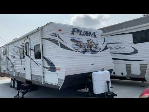2013 WHITE PUMA PALIMINO 30-FQSS (4X4TPUF24DP) , located at 17760 Hwy 62, Morris, OK, 74445, (918) 733-4887, 35.609104, -95.877060 - Photo #0