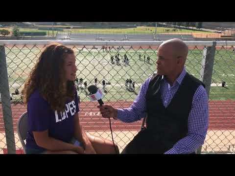RAEANNE JONES INTERVIEW (PART 1) - CHINO HILLS KICKER/SOCCER PLAYER [LIVE HIGH SCHOOL FOOTBALL]