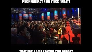 CNN Standing Ovation for Bernie Sanders at New York Debate