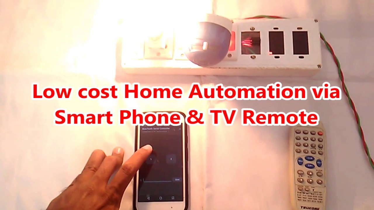 ECE Mini Project (Low Cost Home Automation) - YouTube