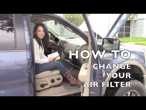 How to install replace air filter f150 for 2006 ford f150 cabin air filter location