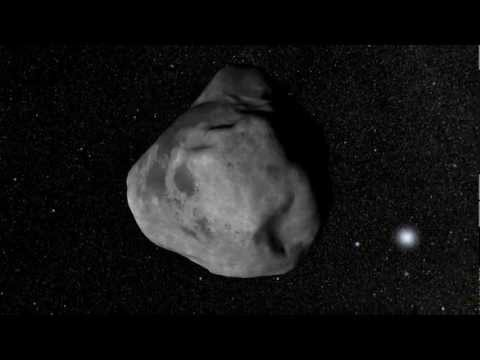 Asteroid Moving Through Space [720p]