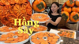 Huong Dan Cach Say Hong Gion Bang May NESCO How To Dehydrate Persimmon By Nesco