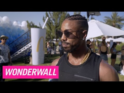 Michael B. Jordan and Jamie Chung chat music and munchies during Coachella bash