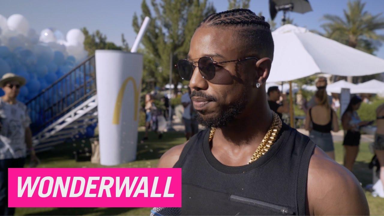 Michael B Jordan and Jamie Chung chat music and munchies during Coachella bash  YouTube
