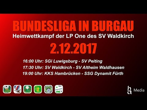 Bundesliga luftpistole live aus burgau am 02.12.2017