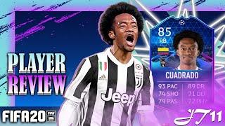 FIFA 20 TOTGS JUAN CUADRADO 85 PLAYER REVIEW