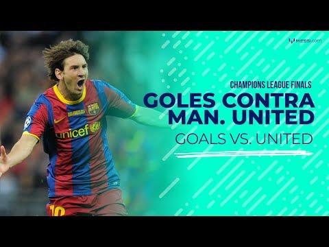 Goles de Leo Messi al Manchester United
