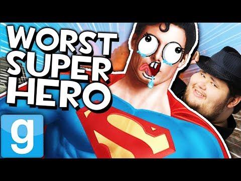 SUPERMAN IS SUPER LAME   Gmod Sandbox (Funny Superman Mods)