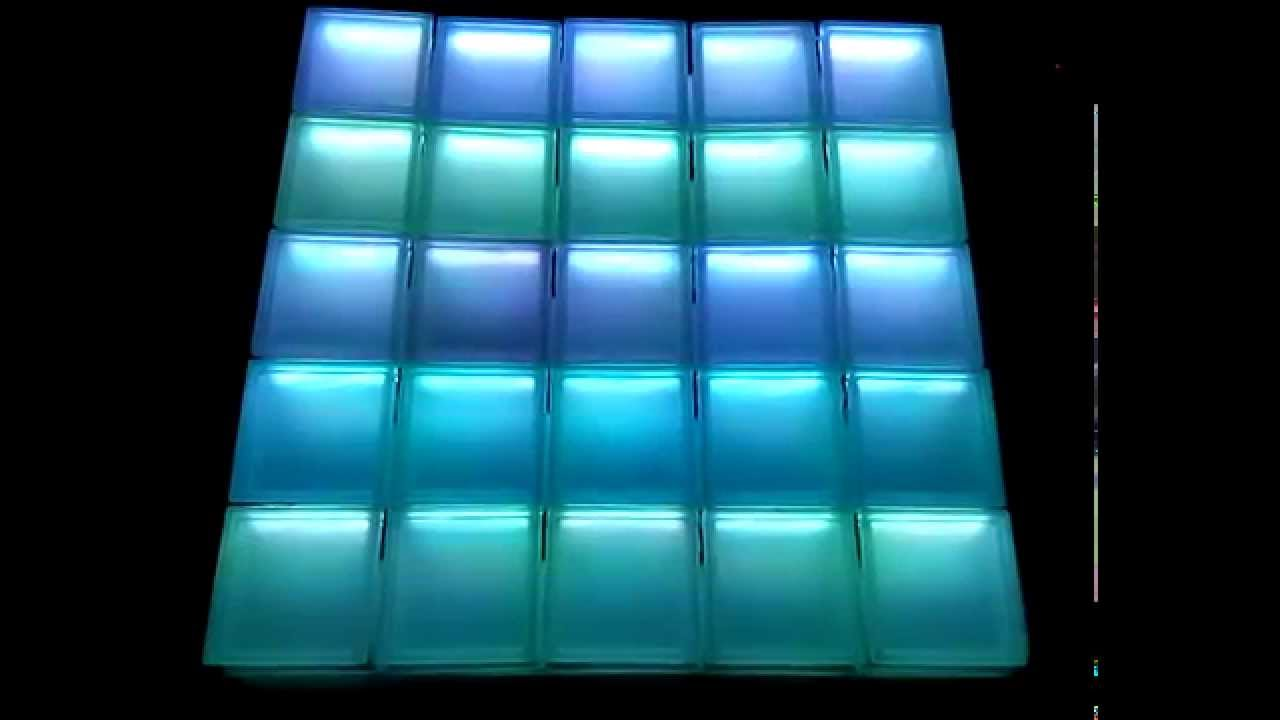 Glasbausteine dusche led  LED-Glasbausteine - YouTube
