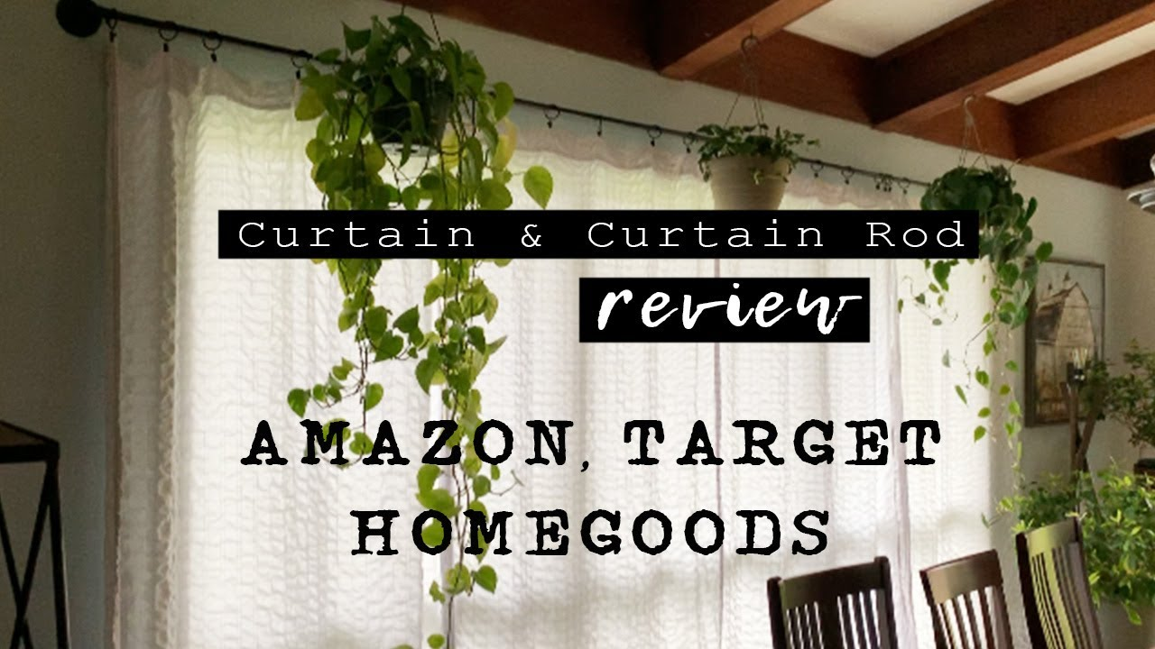 Curtain Curtain Rod Review Best Thermal Insulated Curtains From Amazon Diy Dropcloth Curtains Youtube