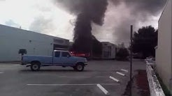 Truck Explodes Into Flames At Bank Of America Near Tampa Florida
