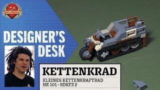 At The Designer's Desk - Kettenkrad - Custom Military Lego
