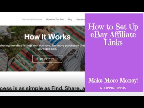 How To Set Up Ebay Affiliate Links Youtube