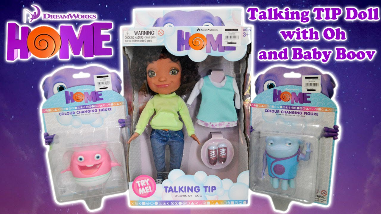 Dreamworks Home Movie Talking Tip Doll With Baby Boov And Oh Colour