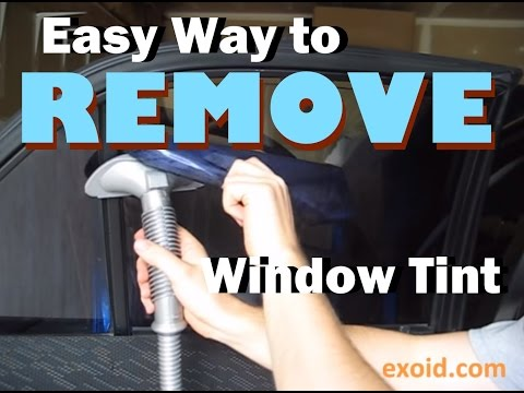 Easy Way to Remove Automotive Window Tint