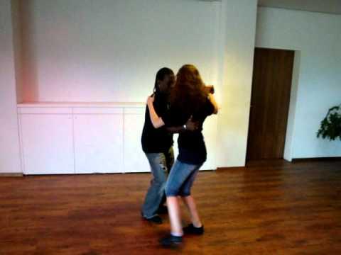 Walter Negrão e a sua aluna a dançar Samba de Gafieira