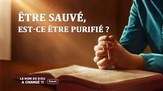 Être sauvé, est-ce être purifié ?