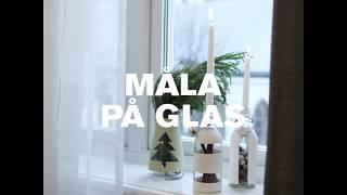 Måla på glas- julinspiration
