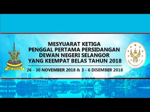 #LIVE Dewan Negeri Selangor | 26 November 2018 - Sesi Pagi