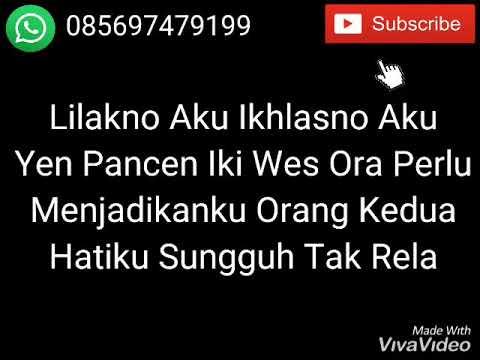 Lirik Lagu NDX A.K.A Ft PJR - Lilakno Aku Dek.