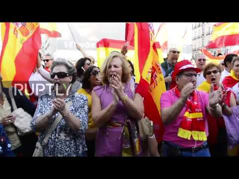 Spain: Demonstration in favour of unified Spain held in Madrid