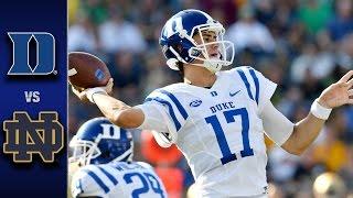 Duke vs. Notre Dame Football Highlights (2016)