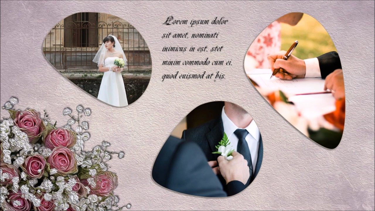 powerpoint wedding album template - youtube, Modern powerpoint