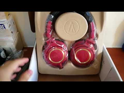 Unboxing - Audio-technica ATH-M50x Limited Edition Red