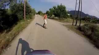 Longboard bike pulling