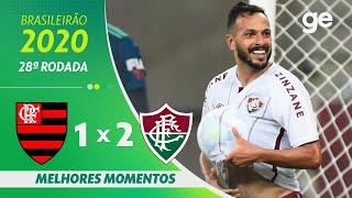 FLAMENGO 1 X 2 FLUMINENSE | MELHORES MOMENTOS | 28ª RODADA BRASILEIRÃO 2020 | ge.globo