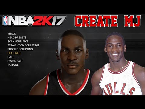 NBA2K17 How To Create Michael Jordan MyPlayer MyCareer