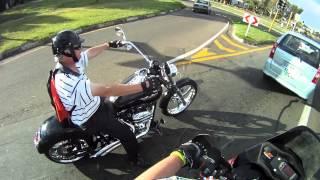 Rally Raid KTM 690 vs Harley Davidson Softail Deuce