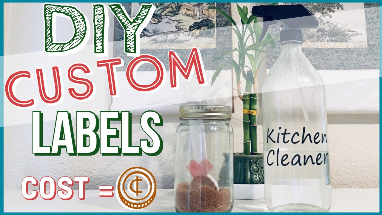 DIY Custom Labels | Repurpose & Upcycle Containers | Frugal Hack