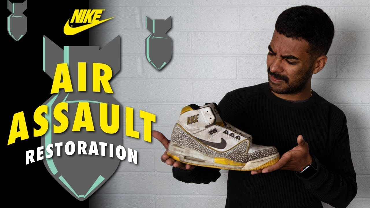5834dc94b2c888 Vick Almighty Restores Nike Air Assaults High with Reshoevn8r - YouTube