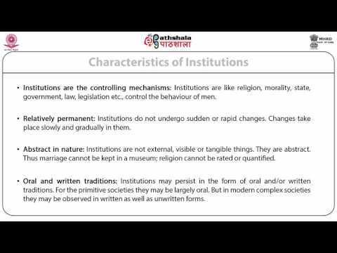 Institution, Association and Group, Status and Role Norms and Values (ANT)