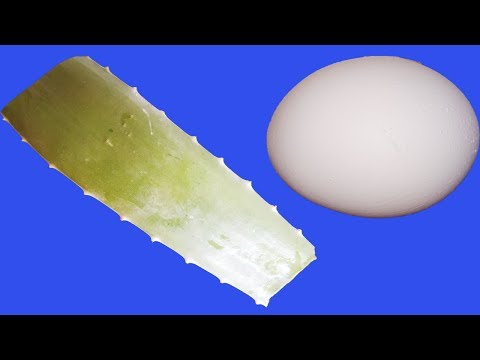 egg-white-aloe-vera-gel-for-silky-hair-mask-|-how-to-get-long,-thicker-hair-beauty-life-hacks