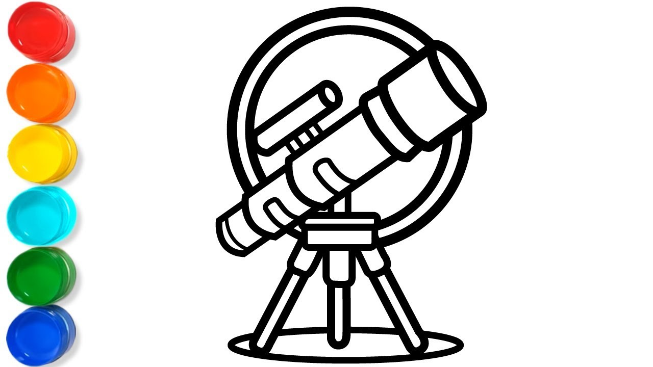 Download How to Draw a Telescope - Telescope Coloring Pages for Kids - Easy Telescope Drawing for Kids ...