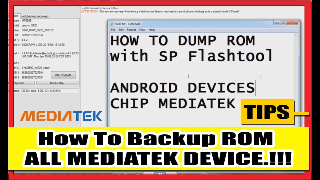 How To Backup ROM ALL MEDIATEK DEVICE !!!