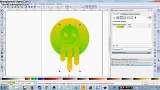 Draw Ghost (Inkscape) / Урок создания иллюстрации Призрак в Inkscape