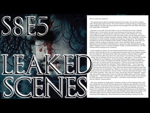 Season 8 Episode 5 Leaked Outline ! | Game of Thrones Season 8 Episode 5