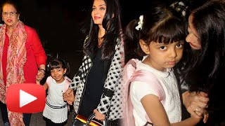 (VIDEO) Aishwarya Rai Leaves For Cannes 2016 with Baby Aaradhya