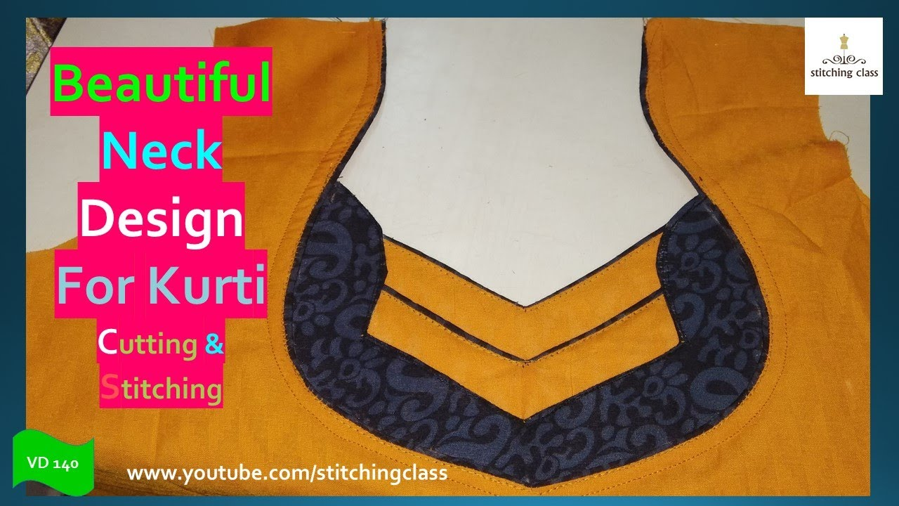 1bff54b75699d9 Beautiful Neck Design, Kurti Neck Design Cutting and Stitching, Neck Design  for Kurtis