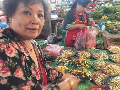 """Lao food! 2016 """"Foods I ate in Laos"""" (Fresh organic food for a month)"""