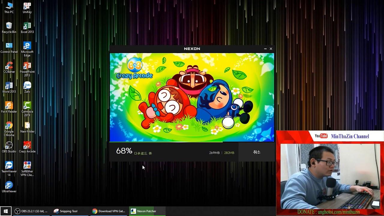 Hướng dẫn tải, cài đặt Crazy Arcade, fake IP để chơi Boom Hàn Quốc (update 5/9/2019)