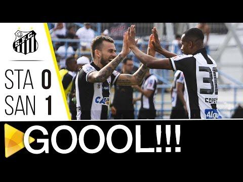 Santo André 0 x 1 Santos | GOL | Paulistão (25/03/17)